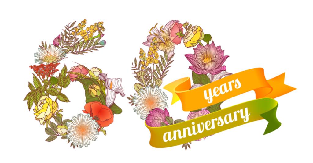 素敵なお花の還暦祝い