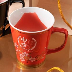 【名入れ陶器】有田焼マグカップ *赤富士*
