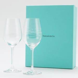 【名入れ】ティファニー ワイングラス2個セット