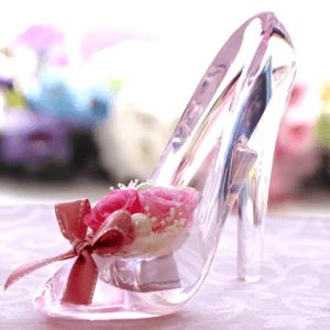 プリザーブドフラワー ギフト シンデレラ ガラスの靴