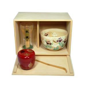 水焼 京焼 ギフト 茶碗 茶道具セット