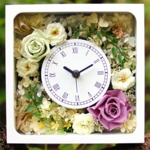 プリザーブドフラワー花時計