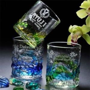【名入れグラス】琉球ガラス 元祖 美ら海 ロックタンブラー