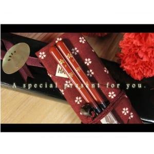 【名入れ】【若狭塗箸+箸袋+箸キャップ】☆食器洗浄機対応 マイ箸セット