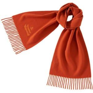 ヴィヴィアンウエストウッド Vivienne Westwood クラシック メンズマフラー オレンジ