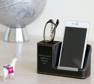 【名入れ】モバイル&メガネスタンド ブラック