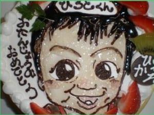 似顔絵ケーキ5号