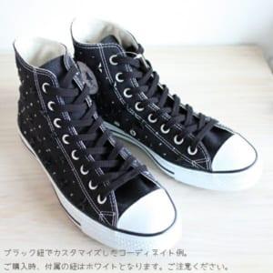 カスタムコンバースキャンバスオールスター◆ハイカットスニーカー(ブラック)◆メンズ☆日本製