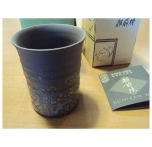 伝統工芸品・越前焼き名入れ陶器・酒器