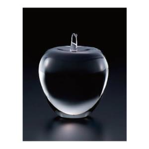 【名入れ】クリスタルガラス/りんごの形のペーパーウェイト