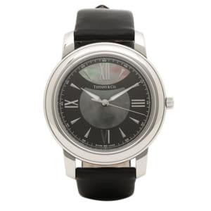 【ティファニー】サファイアガラス/高級感ある腕時計