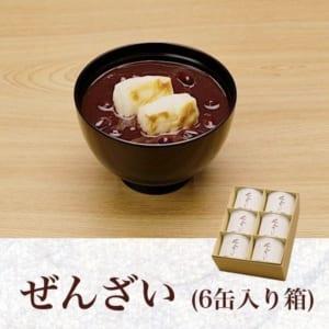 【ぜんざい 6缶入り箱】 by 羽二重団子