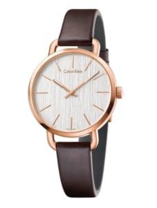 【カルバンクライン】レザーのナチュラル腕時計
