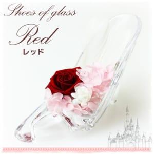 シンデレラ ガラス靴 プリザーブドフラワー