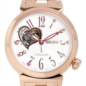 SEIKO LUKIA セイコー ルキア seiko 自動巻き 腕時計 レディース 10気圧防水 スケルトン ハート ステンレス サファイアガラス ローズゴールド SSA834J1 ギフト by CAMERON