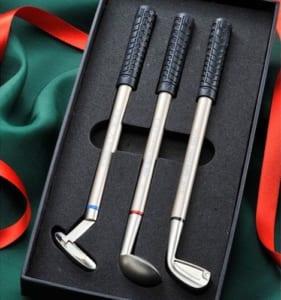 【名入れ】ゴルフクラブのユニークなボールペン3本セット