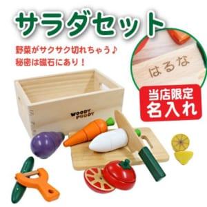 ウッディプッディ ≪サラダセット≫ 木のおもちゃ