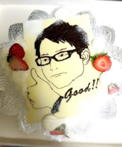 【首都圏限定配送】デザイナーが描く大型似顔絵ケーキ