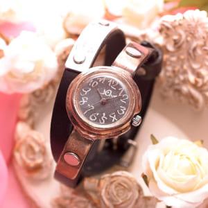 【名入れ】オーダーメイドの手作り本革腕時計