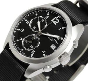 ハミルトン HAMILTON カーキ パイロット 腕時計 メンズ スモールセコンド クロノグラフ