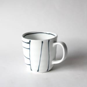 【黒一珍】創業大正11年の麦山窯製作/陶器のマグカップ