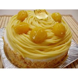 黄金色に輝く昔懐かしの黄色いモンブラン6号サイズ【ホールケーキ】