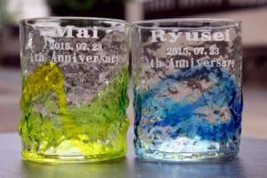 【琉球ガラス 世界にたったひとつのロックグラス】