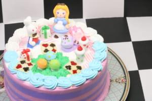 【コスタリカ東田店/5号】アリスの立体ケーキ