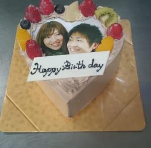 【お菓子のアトリエきのと・4号〜9号】チョコレートのハート型ケーキ