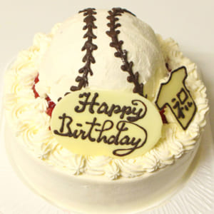 【選べるフルーツ・5~7号】野球ボールケーキ