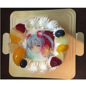 【写真ケーキ・5号】生クリームデコレーションケーキ