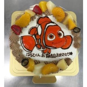 【イラストケーキ・6号】生クリームデコレーションケーキ