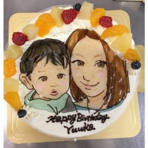 【似顔絵ケーキ・6号】生クリームデコレーションケーキ