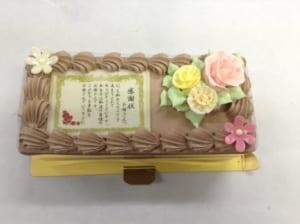 【感謝状の生チョコケーキ・長方形18×7.5cm】
