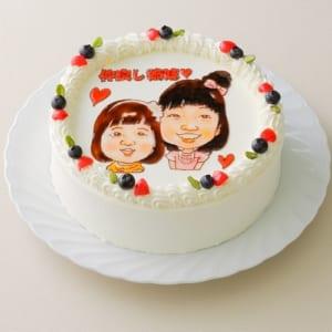 【7号】似顔絵屋の描く似顔絵ケーキ