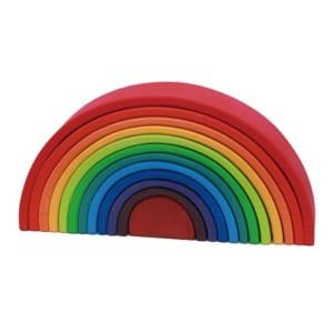 【名入れ】色鮮やかな木製の虹色トンネル