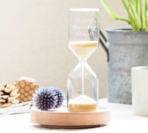 【名入れ】 ベージュ インテリア 砂時計