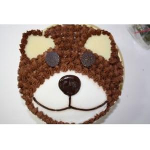 立体生クリームデコレーションケーキ くま