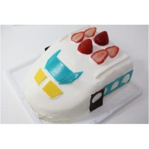 立体生クリームデコレーション 新幹線ケーキ