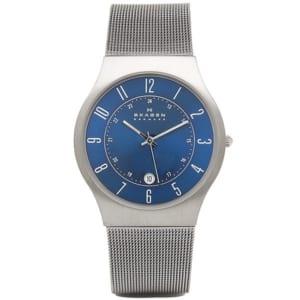 スカーゲン 腕時計 メンズシルバー/ブルー