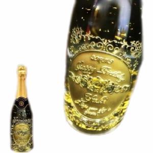 彫刻ボトル 金箔入りスパークリングワイン