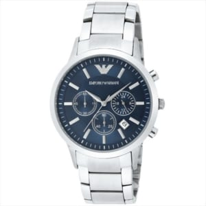 エンポリオアルマーニ EMPORIO ARMANI 腕時計シルバー/ブルー