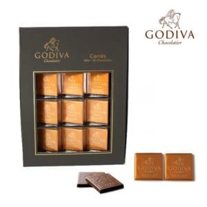 ゴディバ チョコレート GODIVA カーレ ミルク 36枚