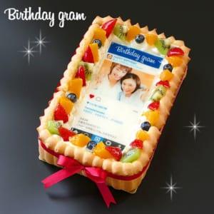 誕生日のサプライズ! SNSに投稿したくなるケーキ♪【プリントケーキ】☆インスタグラム風フレームの写真ケーキ☆