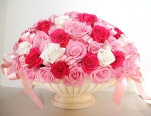バラ60本 楽屋花 開業祝い 花 おしゃれ スタンド花 開店祝い プリザーブドフラワー 還暦祝い 誕生日 成人祝い 開店花 送別 結婚祝 結婚記念日 記念日 花 誕生日 by A-ki Flower Je アーキフラージュ