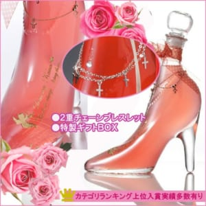 【名入れ プレゼント】【 酒 】【 ワイン 】 ガラスの靴 / シンデレラシュー リキュール ピンク
