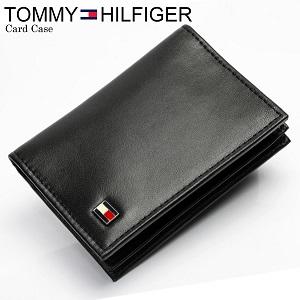 【TOMMY HILFIGER/トミーヒルフィガー】 カードケース 名刺入れ 本革レザー ブラック 0096-4512 メンズ Men's レディース Lady's カード入れ ブランド by CAMERON