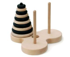 ハノイの塔10段 ゼブラバージョン