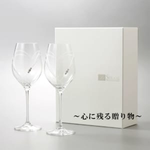 クリスタルワイングラス with SWAROVSKI ペア