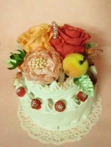 プリザーブド・アートフラワー【フラワーアレンジメント・ケーキ1】